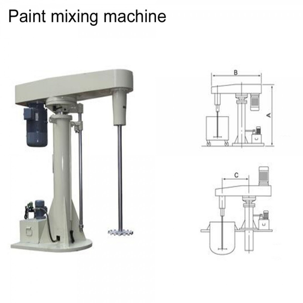 Paint disperser mixer