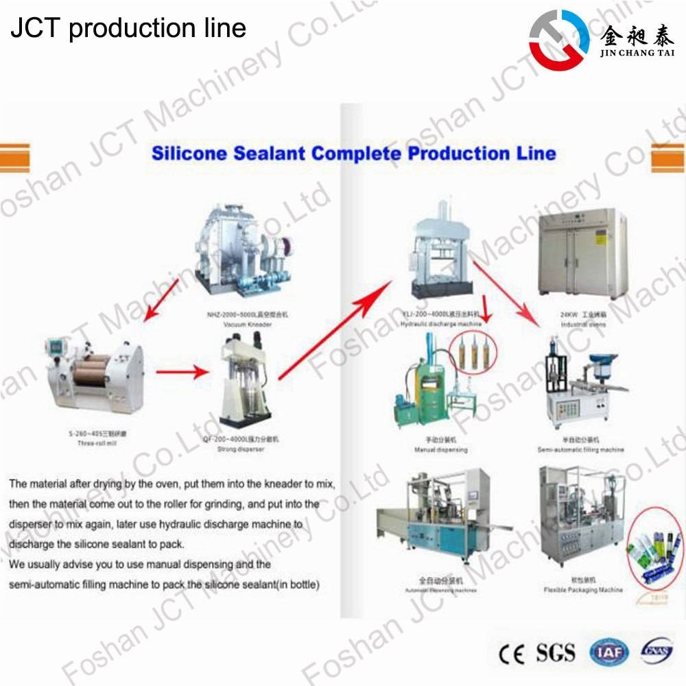 JCT silicone based adhesives production line