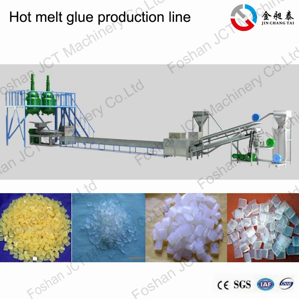 The colored hot melt glue sticks production line