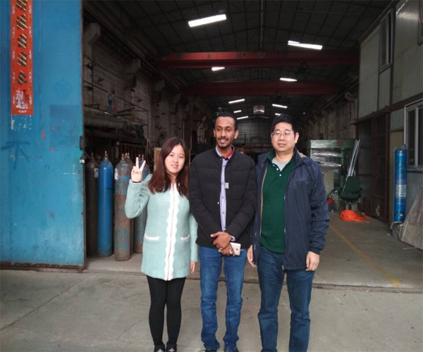 The Ethiopia client order the jacket reactor for hot melt glue sticks