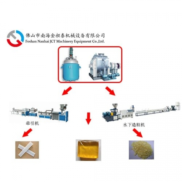 Hot melt adhesive production line